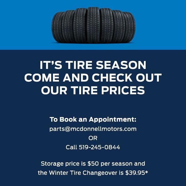 Tire Season Offers | McDonnell Motors
