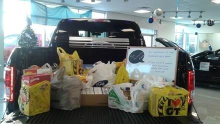 McDonnell Motors runs Food Drive for Food Bank over Christmas Holidays