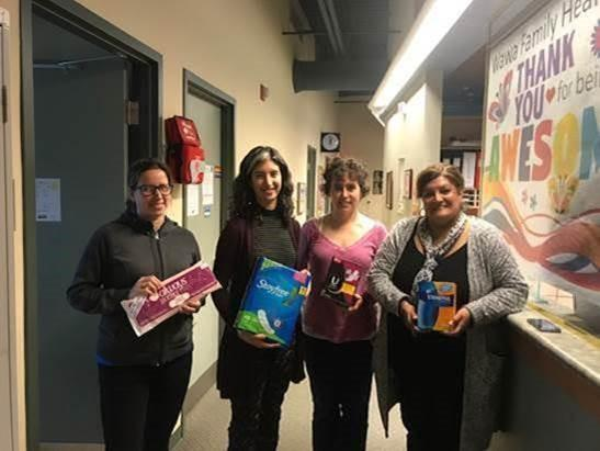 Wawa Family Health Team – left to right – Lonna Rilley, Dr. Jamileh Shaffaf, Melissa Terris, Danette Mathias