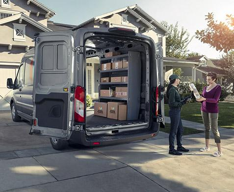 2020 Ford Transit Connect Van in driveway
