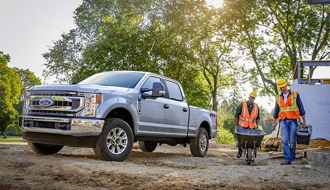 2021 Ford Super Duty on site