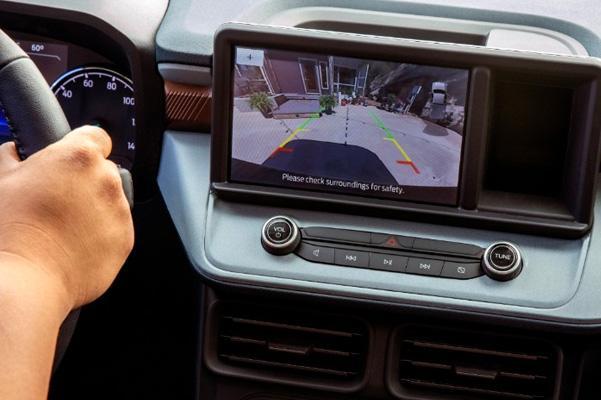 Looking at rear view camera system