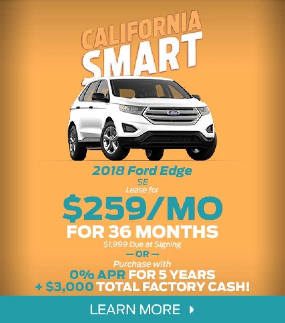 2018 Ford Edge Lease Offer