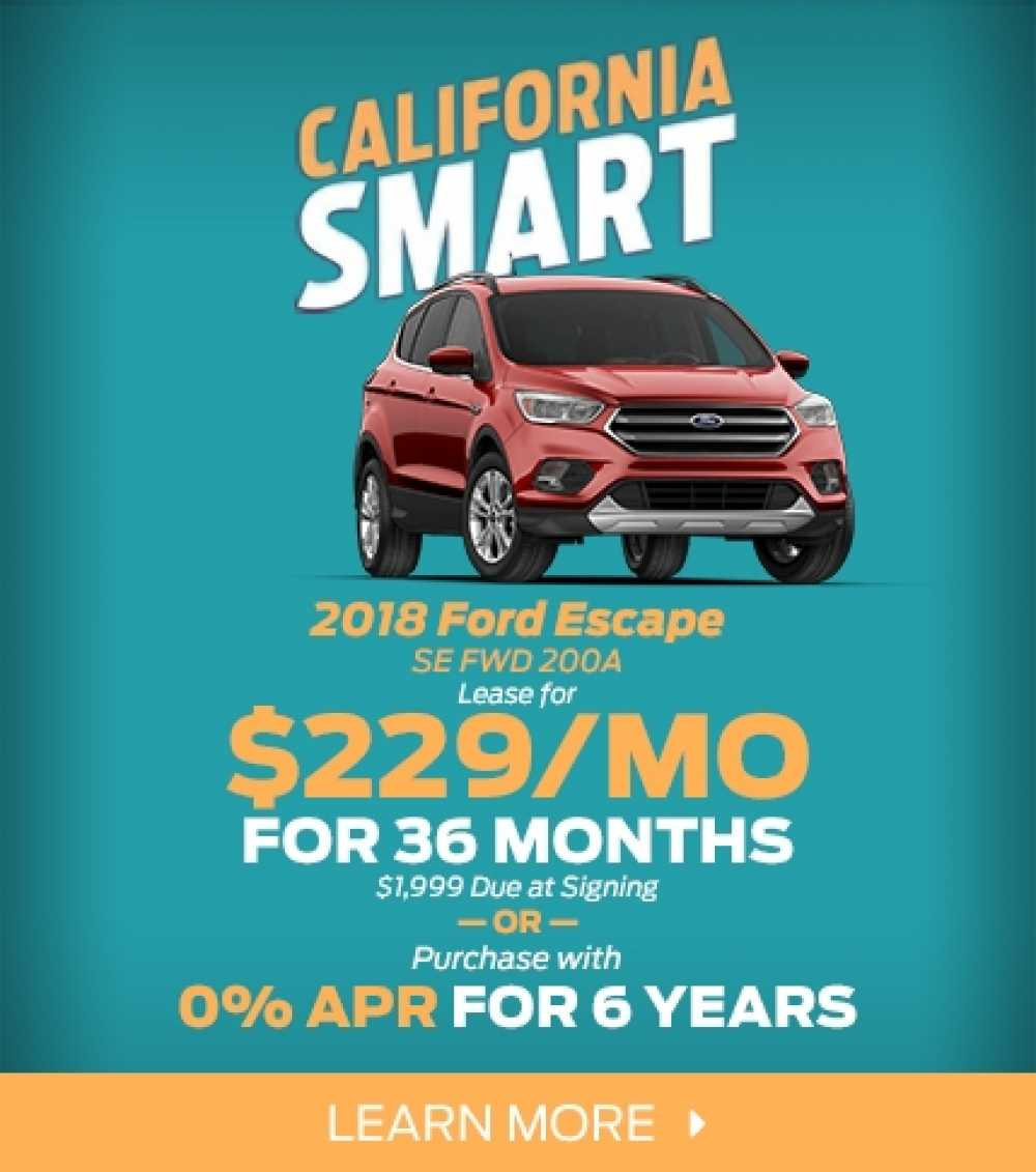 2018 Ford Escape Lease Offer
