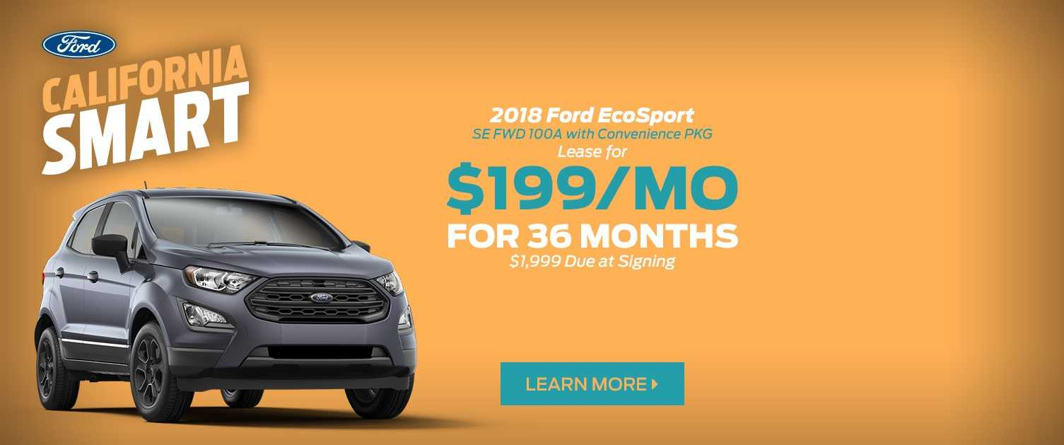 2018 Ford EcoSport Lease Offer