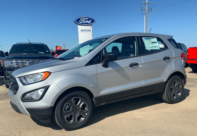 2019 Ford Ecosport S Moondust Silver 10l Ecoboost Engine