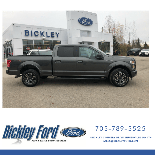 2016 Ford F-150 XLT SPORT w/157 INCH WHEELBASE, NAVIGATION, HEATED SEATS