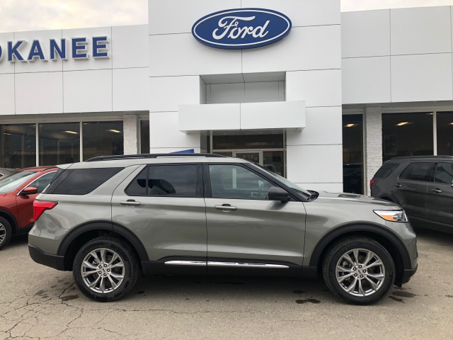 2020 Ford Explorer Xlt Silver Spruce 2 3l I 4 Ecoboost Engine With Auto Start Stop Technology Kokanee Ford Sales
