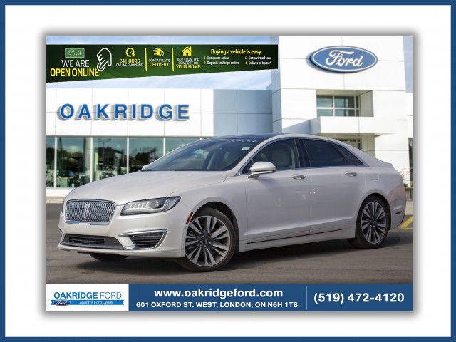 2017 Lincoln MKZ Reserve, WOW ONLY 13 K PLUS RARE 400 HP V6!!