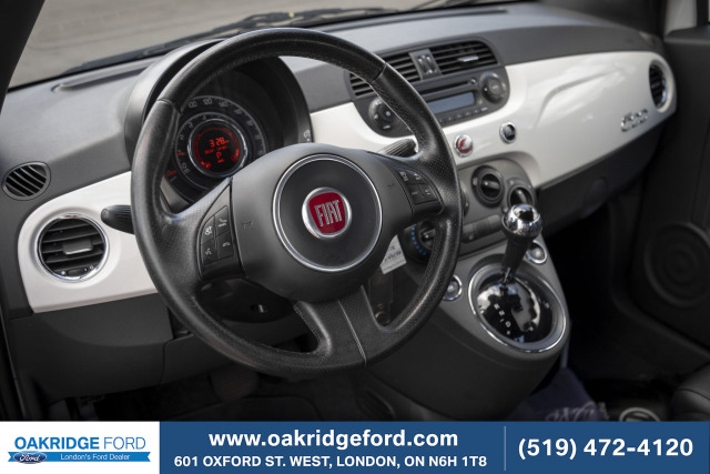 2014 FIAT 500 Sport, 2014 Fiat 500 White Navigation
