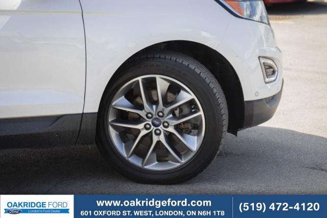 2017 Ford Edge Titanium, White Platinum Titanium with Drivers Package
